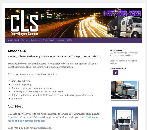 CLS Olds website design